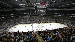 NHL hockey arena (courtesy AP Photo/Gene J. Puskar